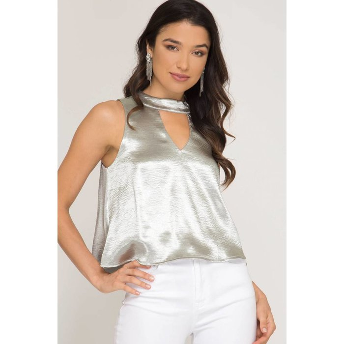 Choker Satin Top