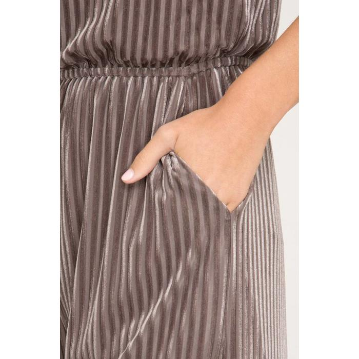 Velvet Striped Knit Jumpsuit