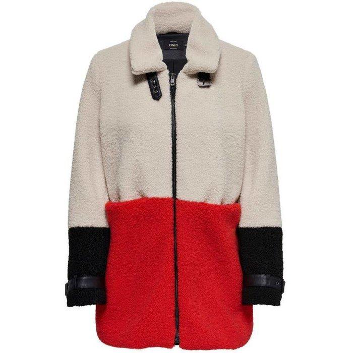 Celina Blocked Sherpa Mix Coat