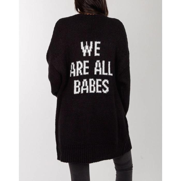 We Are All Babes Boyfriend Cardigan