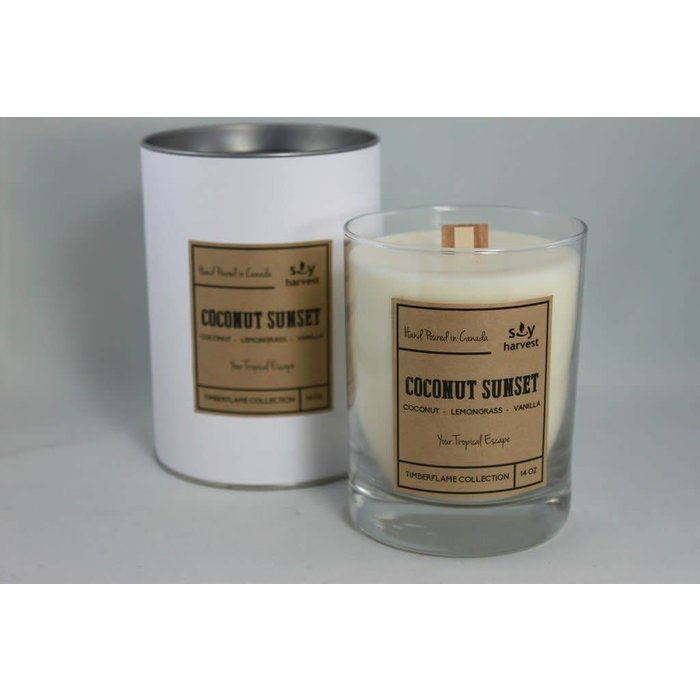Coconut Sunset Timberflame Candle