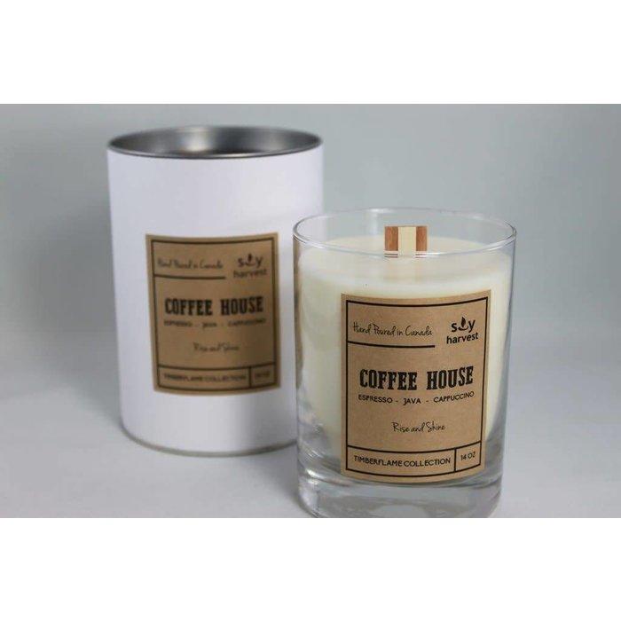 Coffee House Timberflame Candle