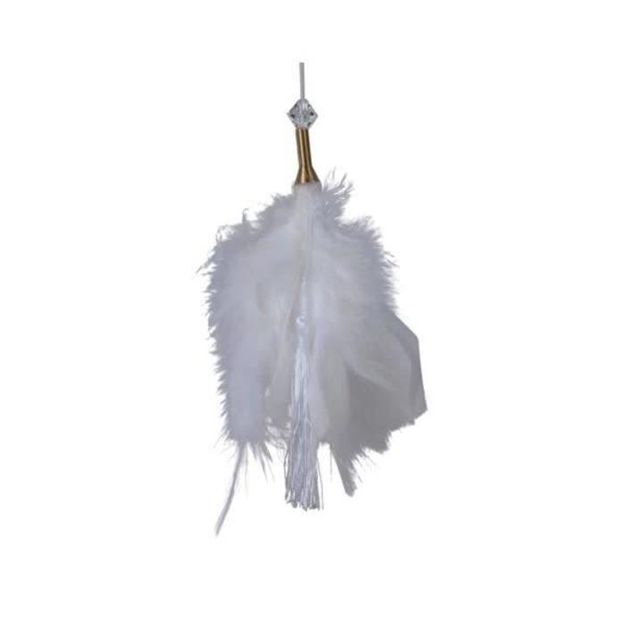 Feather Tassel White