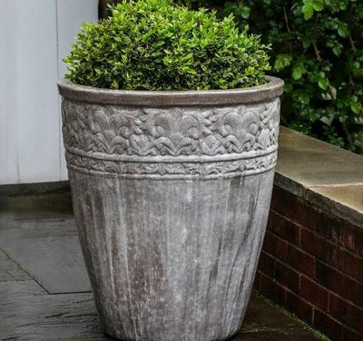 Glazed Copelia Planter Set of Two