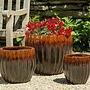 Glazed Estrella Planter Set of Three