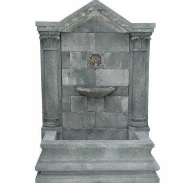 Limestone Fontana A Muro Allegorica
