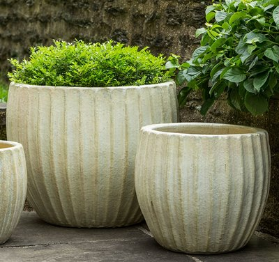 Glazed Estrella Planter Set of Three