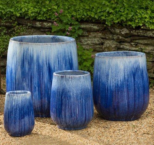 Glazed Caixa Planter Set of Four