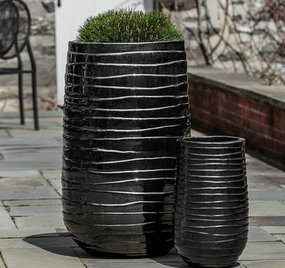 Glazed Ipanema Tall Planter Set of Two