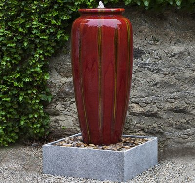 Glazed Vega Jar Fountain