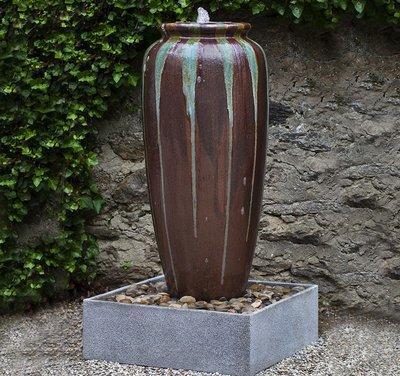 Glazed Lago Jar Fountain