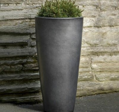 Glazed Aluan Tall Round Planter