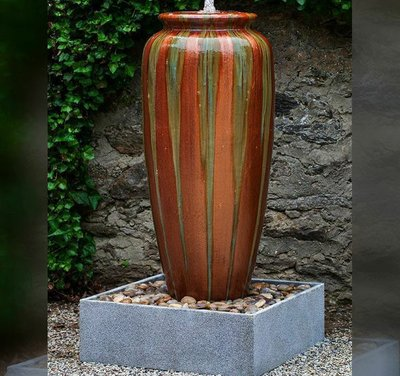 Glazed Catinat Jar Fountain