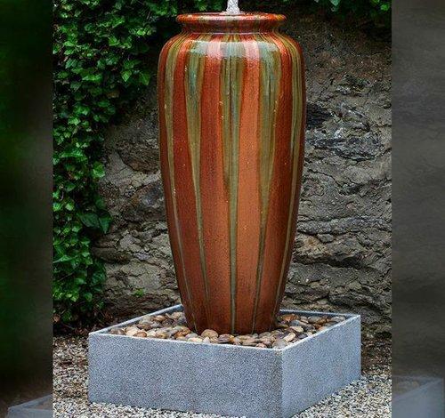 Glazed Catinat Jar Fountain