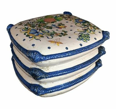 Italian Ceramics Italian Three Tiered Garden Seat