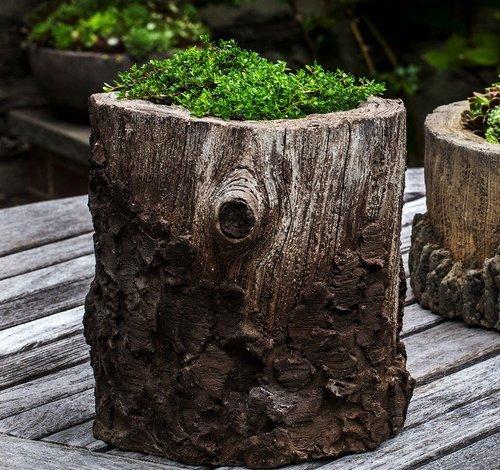 Cast Stone Chestnut Planter