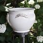 Italian Ceramics Antique White Principe Planter