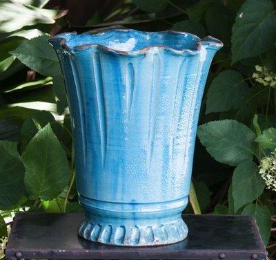 Italian Ceramics Sky Florentine Vase Medium