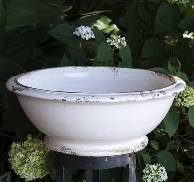 Italian Ceramics White European Large Bowl