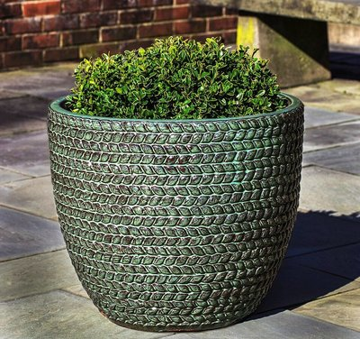 Glazed Sisal Weave Planter Set of Three