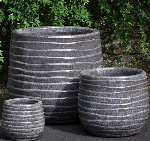 Glazed Ipanema Planter Set of Three