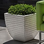 Glazed Square Dimple Planter Set of Three