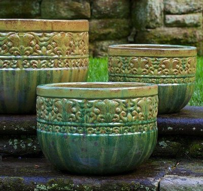 Glazed Quebrada Planter Set of Three