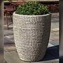Glazed Tall Sisal Weave Planter Set of Three