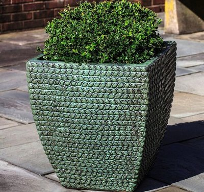 Glazed Sisal Square Weave Planter Set of Three