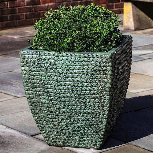 Glazed Sisal Square Weave Planter Set of Three