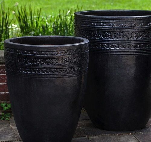 Glazed Sari Planter Set of Three