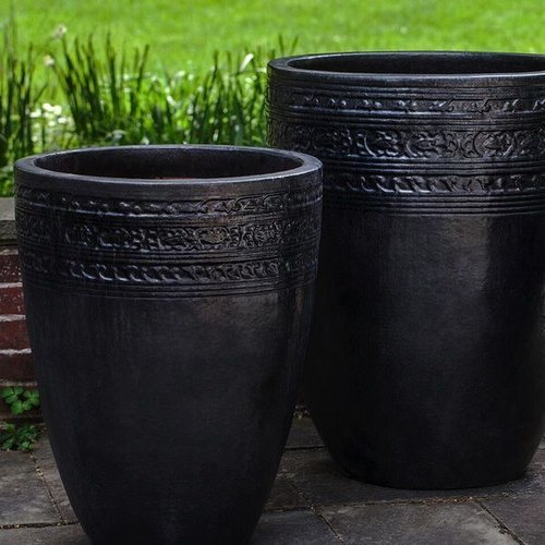 Glazed Sari Planter Set of Three