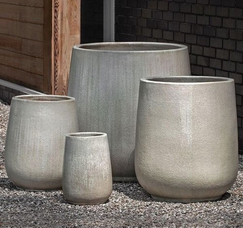 Glazed Caixa Planter Set of Four