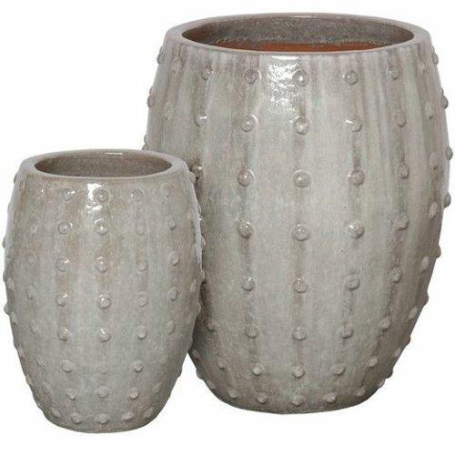 Glazed Stud Planter Set of Two