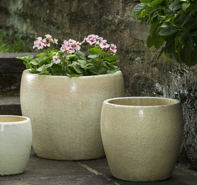 Glazed Sara Planter Set of Three