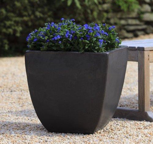 Glazed Mika Square Planter Set of Three