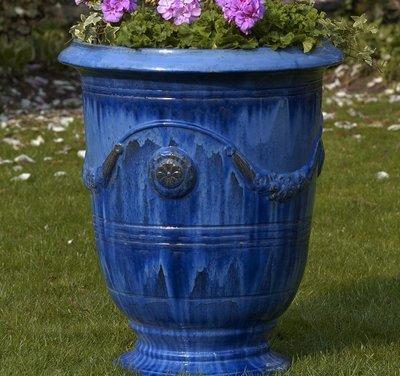 Glazed Anduze Urn Set of Three