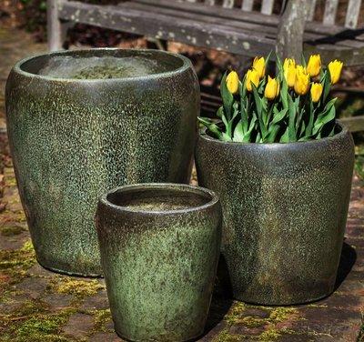 Glazed Ellesmere Planter Set of Three