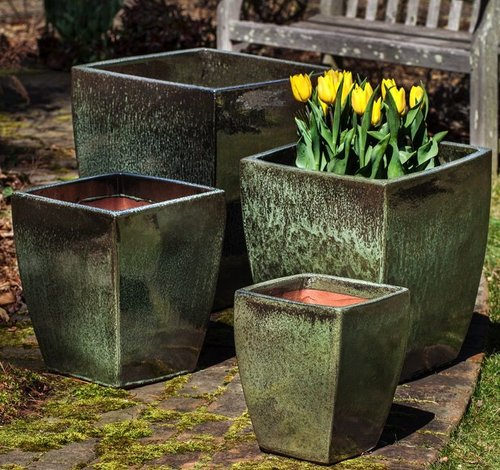 Glazed Blake Planter Set of Four
