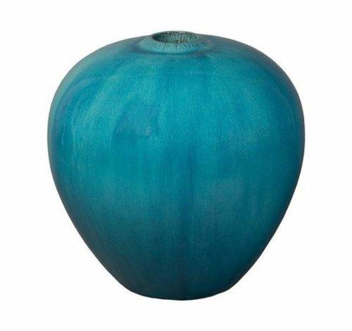 Glazed Turquoise Sphere Vase