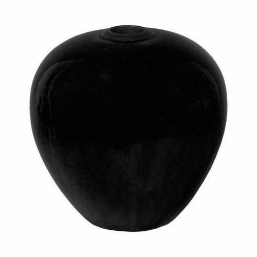 Glazed Black Sphere Vase
