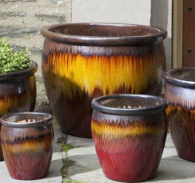 Glazed Mirador Planter Set of Five