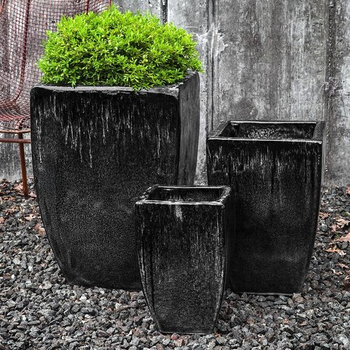 Glazed Banteay Planter Set of Three