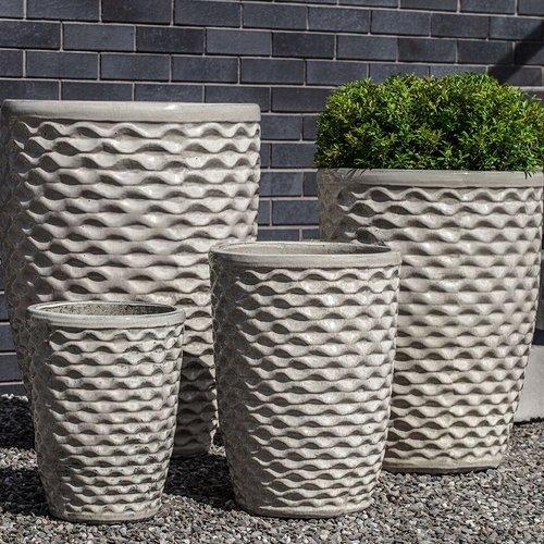 Glazed Tall Honeycomb Planter Set of Four