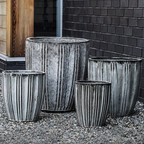 Glazed Lucien Planter Set of Four