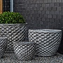 Glazed Honeycomb Planter Set of Four