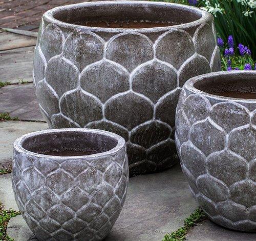 Glazed Pina Planter Set of Three