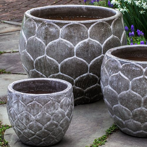 Glazed Pina Planter Set of Three