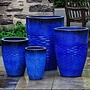 Glazed Tall Hyphen Planter Set of Four