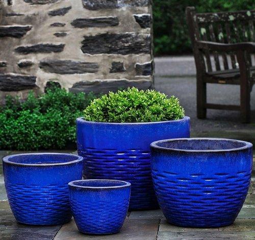 Glazed Hyphen Planter Set of Four
